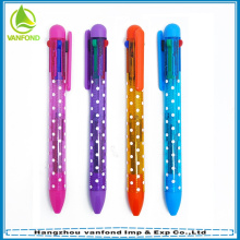 Hot sale plastic multi color ink pens for promotion